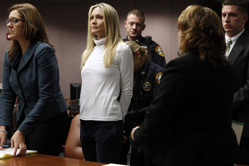 Amy Locane-Bovenizer, second from left, in court.