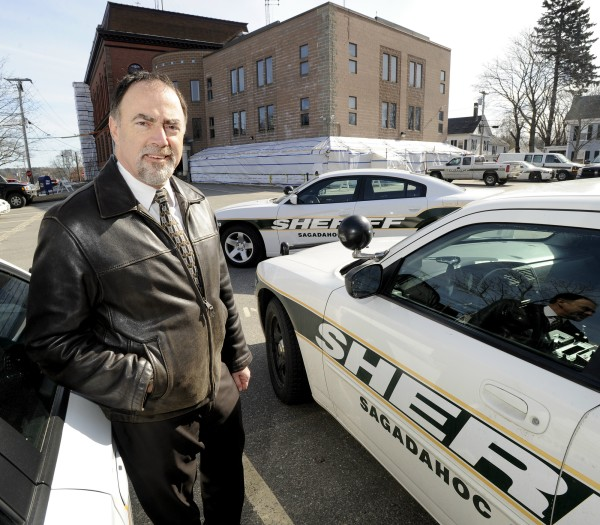 Tuesday, Feb.21, 2012. Sagadahoc County Sheriff Joel Merry outside the Sagadahoc County Courthouse and Sherff's Dept. in Bath.
