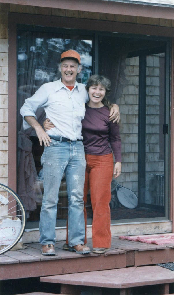 Jack and Katherine Hegarty stand outside their cabin in Jackman in this undated photo. Katherine Hegarty, 51, was shot and killed in a shootout with police in May 1992.