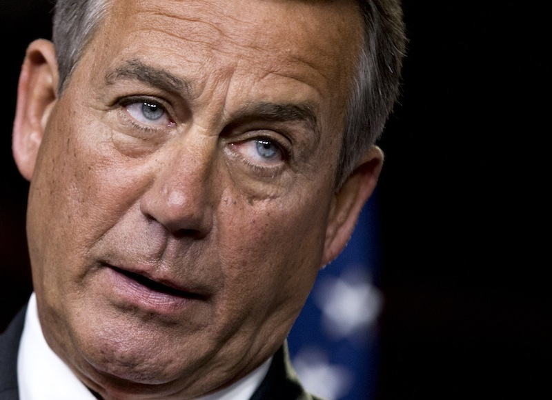 This Nov. 29, 2012 file photo shows House Speaker John Boehner of Ohio speaking to reporters on Capitol Hill in Washington. Americans are living longer, and Republicans are proposing to raise the Medicare eligibility age as part of a deal to reduce the government's huge deficits. But what sounds like a common-sense sacrifice for an aging society that's facing tight budgets could have some surprising consequences, including higher premiums for people on Medicare. (AP Photo/J. Scott Applewhite, File)