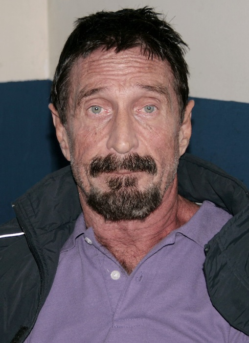 In this photo released by Guatemala's Human Rights Ombudsman's office, software company founder John McAfee is photographed in an immigration detention center in Guatemala City, Thursday, Dec. 6, 2012. (AP Photo/Guatemala's Human Rights Ombudsman's office)
