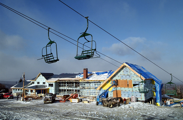 A Nov. 26, 2004, photo of construction on the ski lodge at the Saddleback ski resort.
