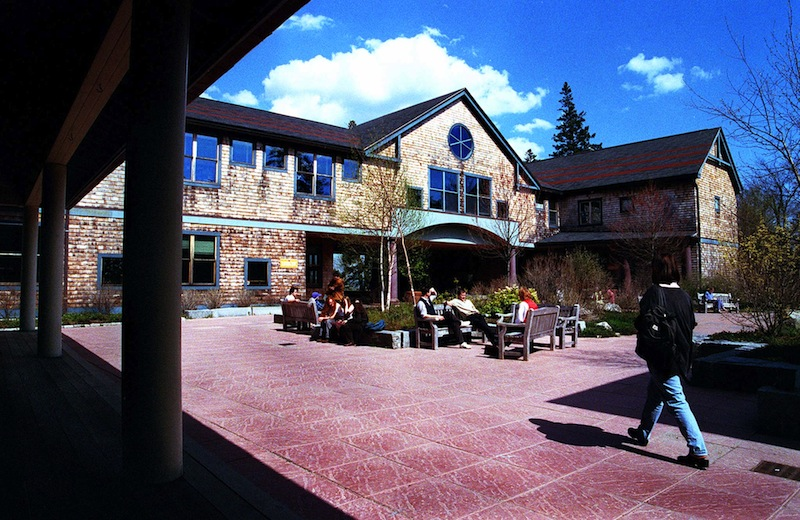 This May 1997 file photo shows Kaelber Hall at the College of the Atlantic in Bar Harbor. The heads of six Maine colleges are among more than 160 college presidents nationwide calling for stricter gun control in the wake of the Connecticut shooting that killed 20 elementary school students.