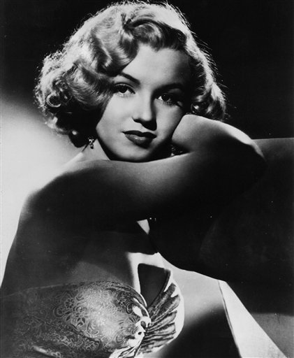 This undated photo shows actress Marilyn Monroe.
