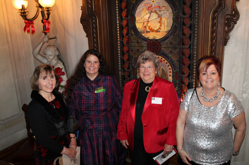 Museum trustees Sandra Harris Gilley and Zareen Taj Mirza, past president Dodie Detmer and Carlene Magno, a member of the museum's education committee.