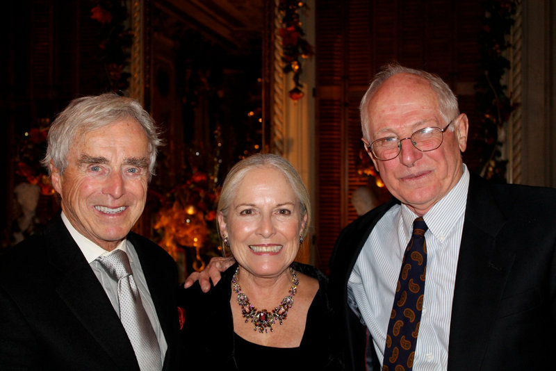 "Frank E. Riley of Portland with his wife, Sharon, and Jack Bauman, author of the recently published, ""Gateway to Vacationland: The Making of Portland, Maine."""