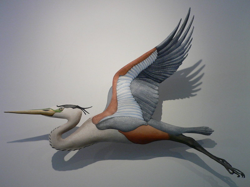 """Great Blue Heron Flight"" by Hugh Verrier."