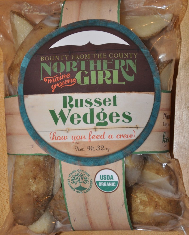 Organic russet wedges are among the frozen root vegetables that were packaged by Northern Girl.
