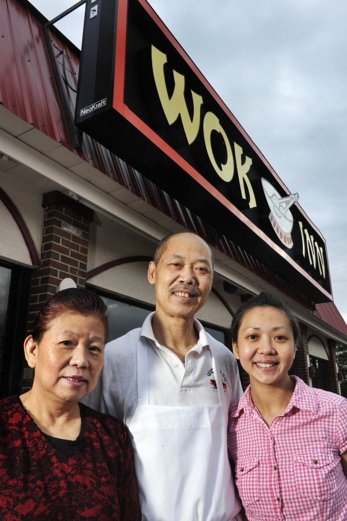 Shukee Lee and his family have run the South Portland restaurant since 1989. From left are Lai Lee, Shukee Lee and daughter Yeelin Lee.