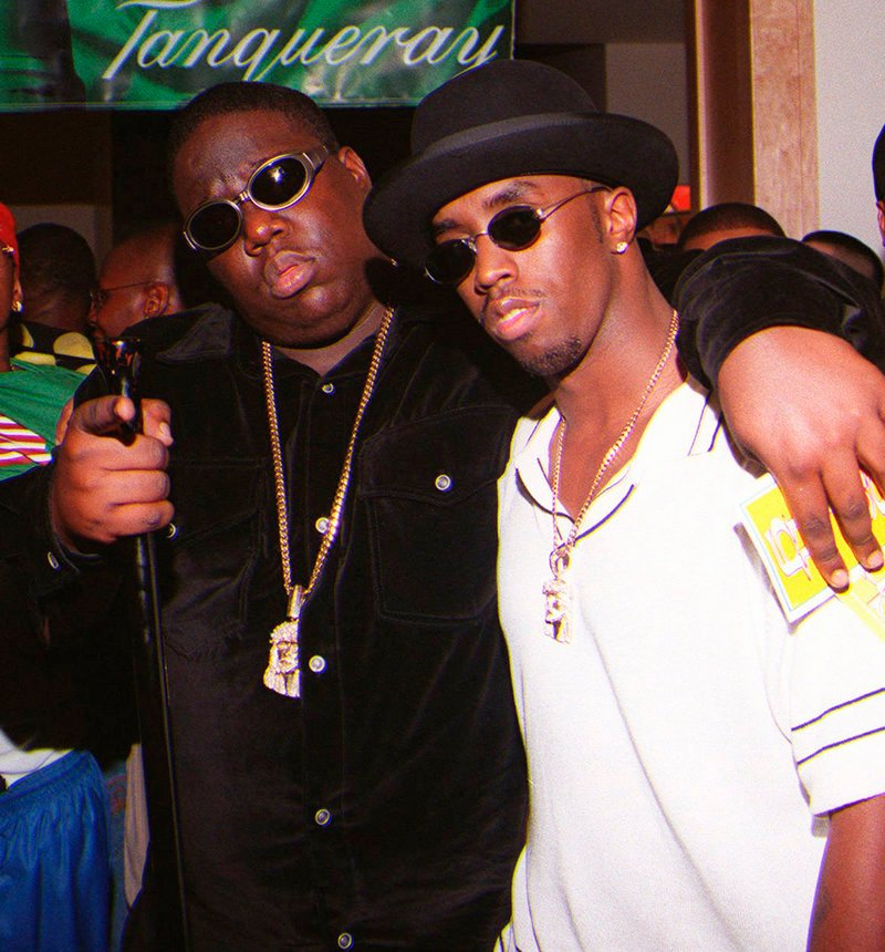 "Notorious B.I.G., left, and producer Sean ""Diddy"" Combs are shown in Los Angeles in 1997."