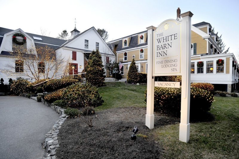 The White Barn Inn in Kennebunkport plans an elegant black-tie party featuring dinner, a kitchen tour and live music.