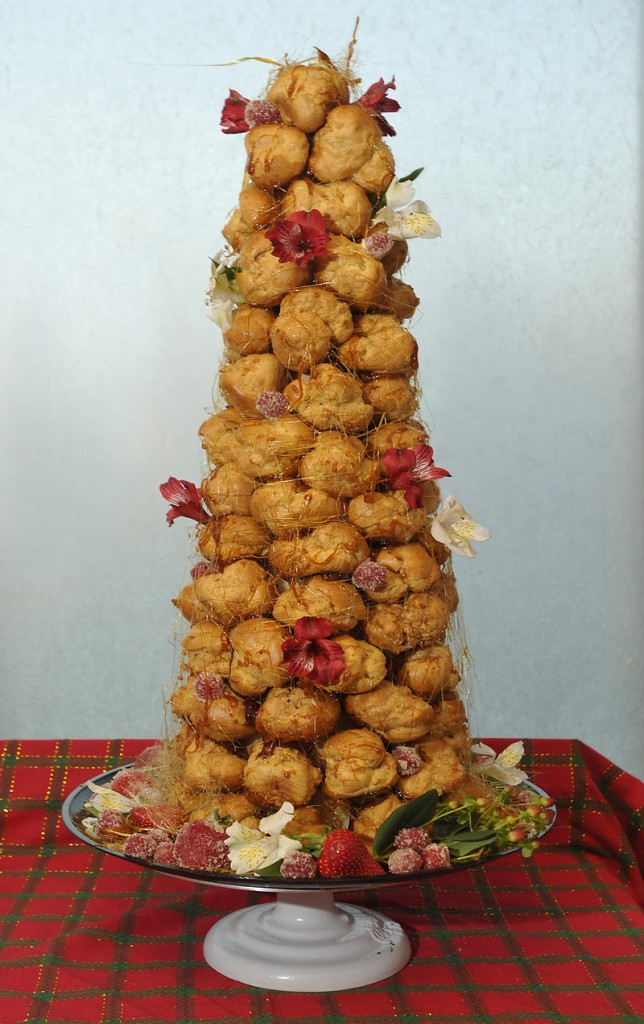 Tiffany White's version of croquembouche.