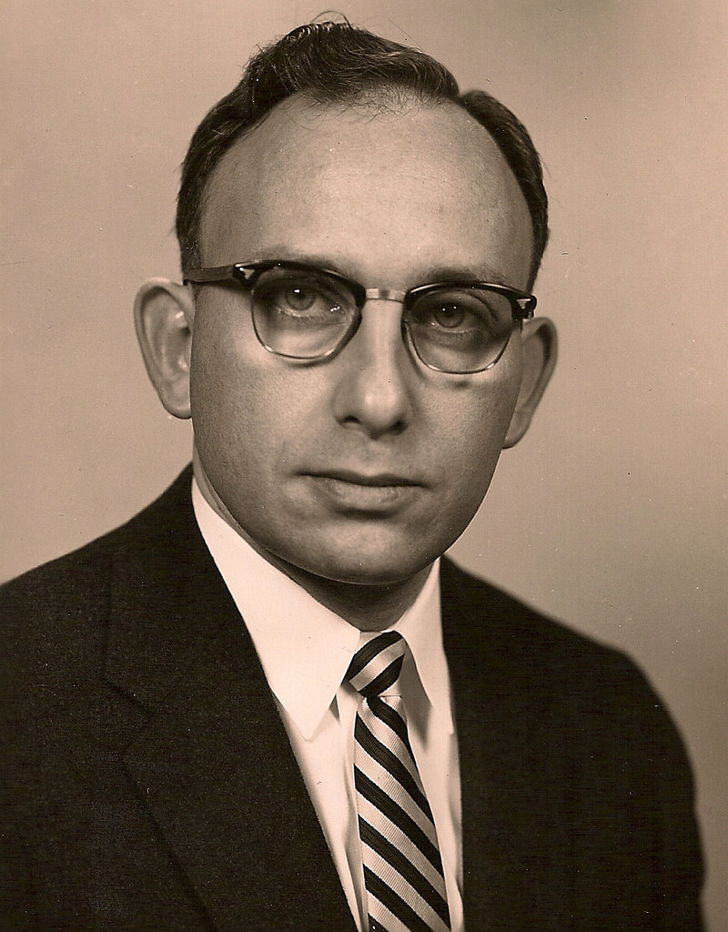 Bar code co-inventor Norman Joseph Woodland, shown in a 1950s photo, died Sunday at the age of 91.