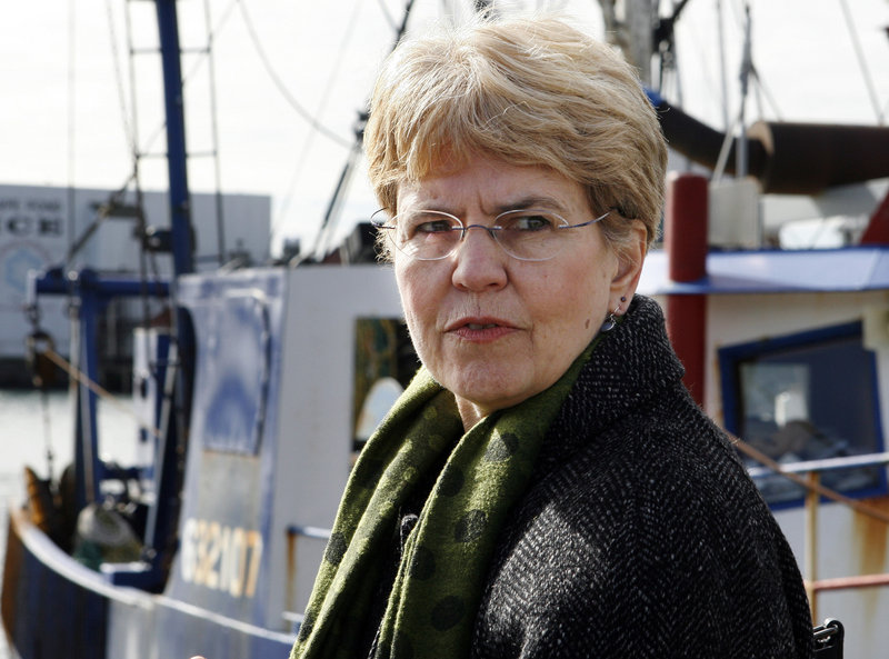 National Oceanic and Atmospheric Administration chief Jane Lubchenco has been praised by environmentalists, but criticized by New England fishermen who say drastic catch reductions under her reign will put them out of business.