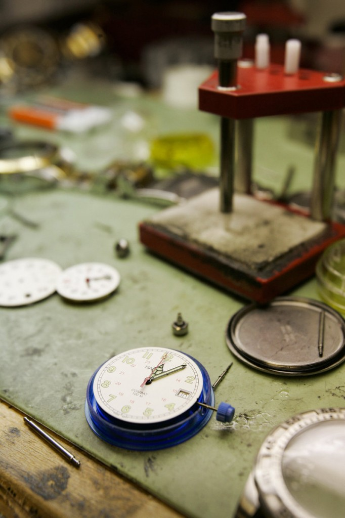 Jules Borel & Co. in Kansas City does a big business in watch repair.