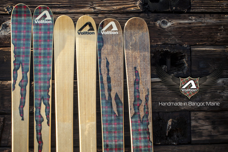 Volition skis, made in Bangor, come in two models – the hard-carving Knotty Wood and the all-mountain twin-tip Drift Wood, either of which could make a fine Christmas gift.