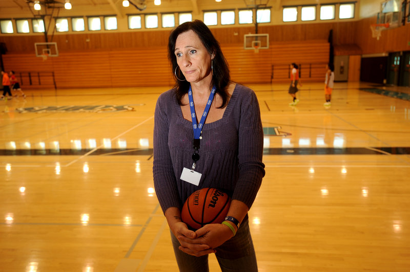 Gabrielle Ludwig, a 6-foot, 6-inch transsexual, plays on Mission College's women's basketball squad.