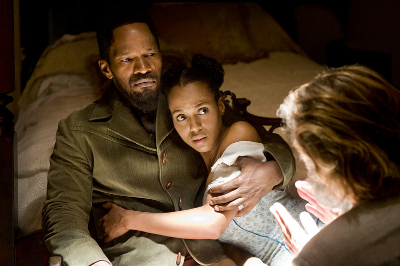 "Jamie Foxx and Kerry Washington in ""Django Unchained,"" another ""roaring rampage of revenge"" from director Quentin Tarantino."