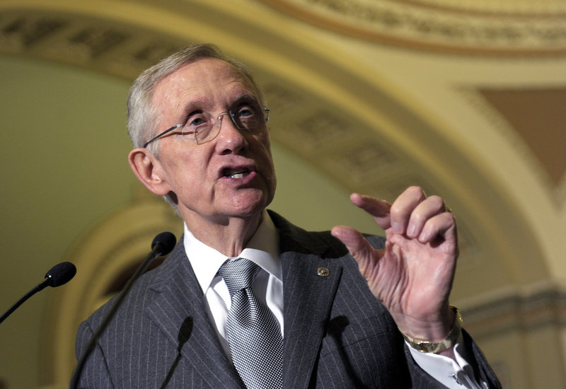 "Senate Majority Leader Harry Reid of Nevada, who spoke following a Democratic policy luncheon Tuesday, says a ""Plan B"" tax proposal from Republicans ""will not pass the Senate."""