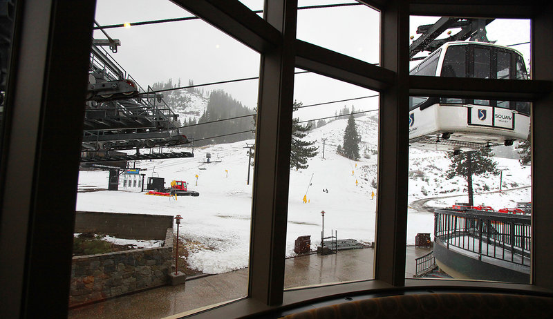 At Squaw Valley, in the mountains above Lake Tahoe, the owners spent $4 million on new snow-making equipment last summer. Modern snow-making guns use less energy than older systems.