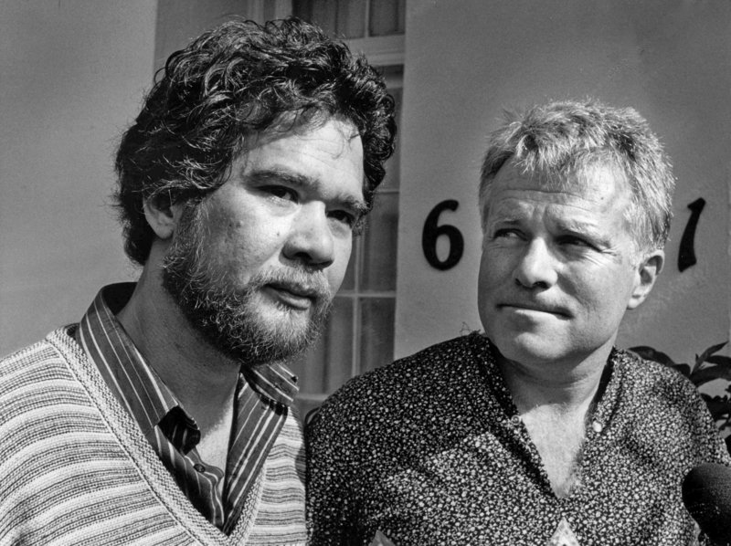Richard Adams, left, and his partner, Anthony Sullivan, are shown in 1984. They were granted a marriage license in 1975, but for years fought in vain to see it recognized.