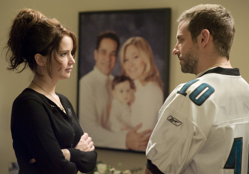 Jennifer Lawrence, left, and Bradley Cooper are Tiffany and Pat, who both suffer from deep emotional wounds.