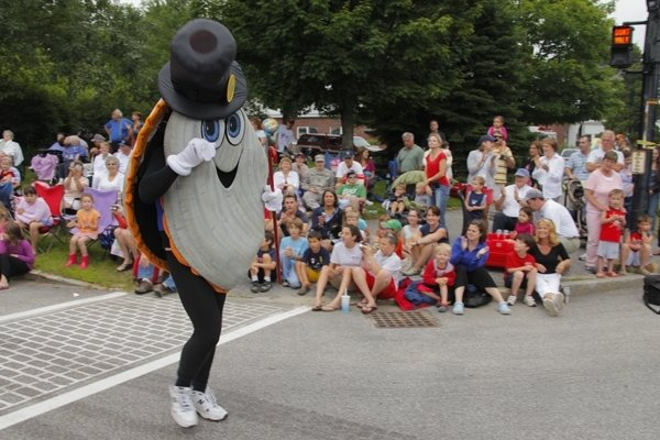 Steamer, the official clam mascot of the Yarmouth Clam Festival