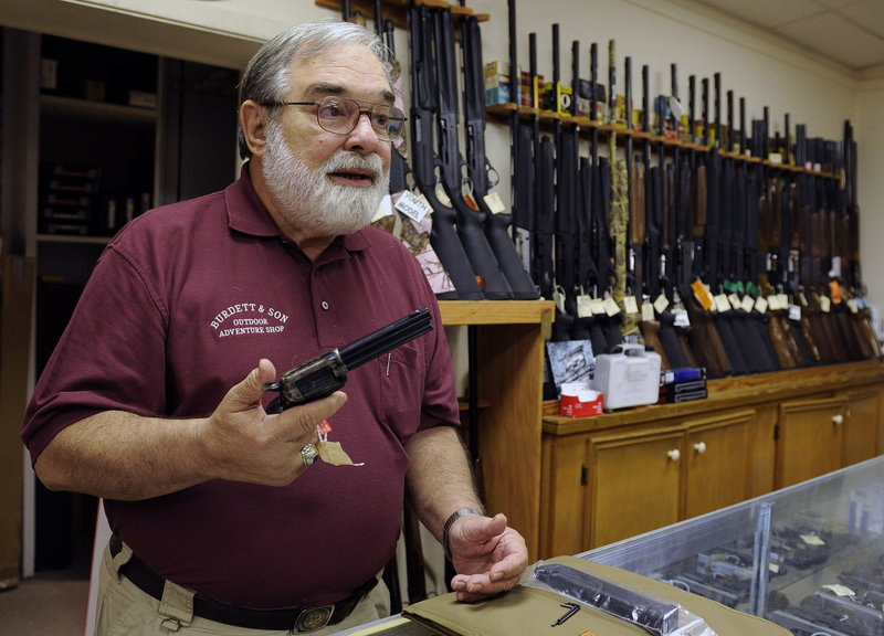 Dave Burdett, the outspoken owner of a gun store in College Station, Texas, says his affinity for guns is rooted in history, not sport.