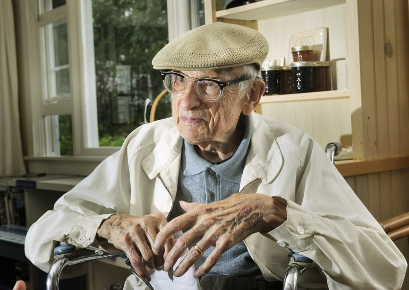 Will Barnet at the age of 101 in July at the Rock Garden Inn in Phippsburg.