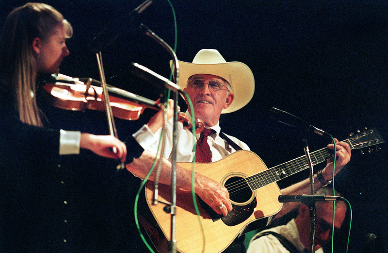 Mac McHale performs with fiddler Erica Brown in 2000.