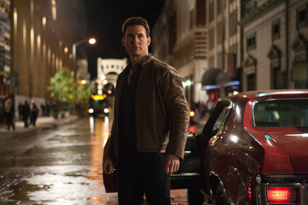 "Tom Cruise in the title role in ""Jack Reacher."""