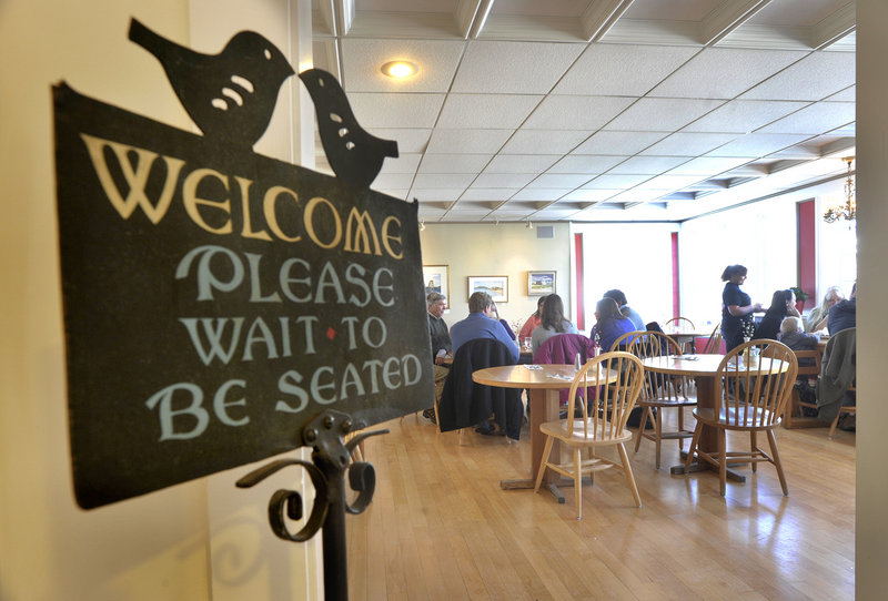 The service is friendly and the atmosphere charming at Mae's Cafe and Bakery.