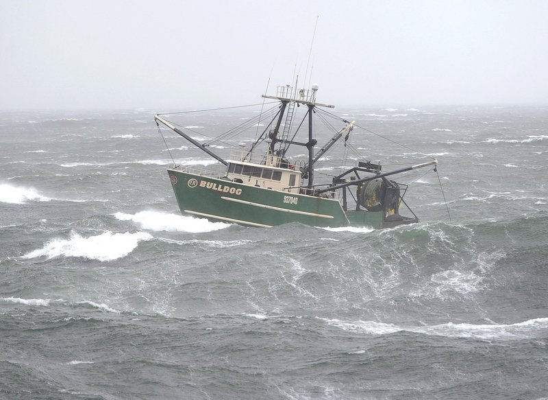 The fishing vessel Bulldog enters Portland Harbor in this Monday, Oct. 29, 2012 file photo. The U.S. Senate passed a $60 billion disaster relief bill Friday that includes funding to support struggling groundfishing fleets in Maine and other Northeastern states.