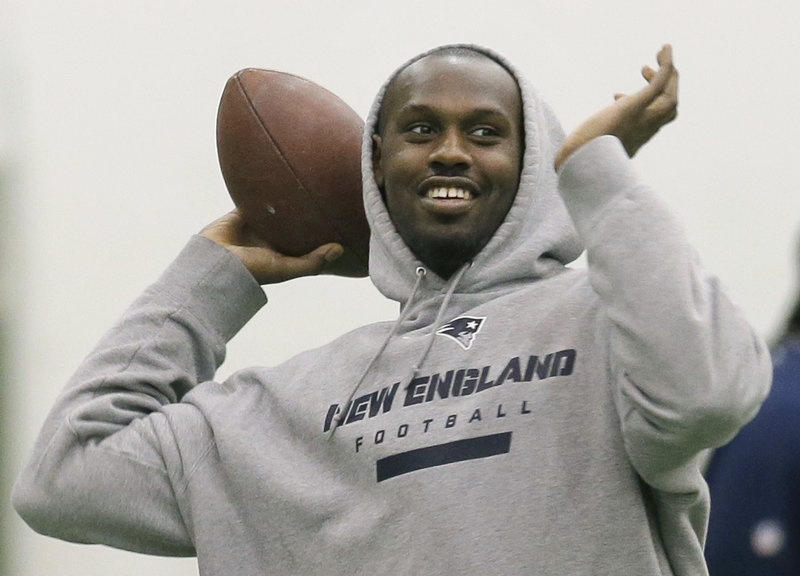 Defensive end Chandler Jones won't be challenging Tom Brady's lock on the quarterback position, but he still enjoys tossing the football around during practice this week in Foxborough.