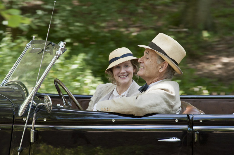 "Bill Murray stars as FDR, with Laura Linney as Daisy in ""Hyde Park on Hudson."" Murray is nominated for a Golden Globe for lead actor in a comedy or musical."