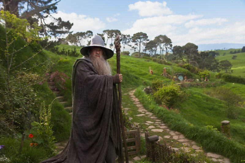 "Ian McKellen portrays Gandalf in ""The Hobbit: An Unexpected Journey."""