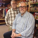 """Richard Acker, left, and Rich Hirschmann were turned away when they asked to be married by town clerks in Litchfield, two of whom are notaries public. They said a clerk told them that the two notaries were """"both shy about things like this."""""""