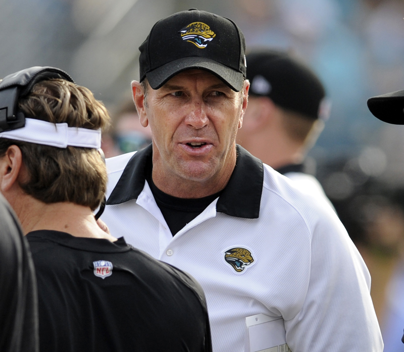 Jacksonville Coach Mike Mularkey sounds like he's spouting malarkey when he says his hapless Jaguars have a chance against the playoff-bound Patriots. NFLACTION12 sideline