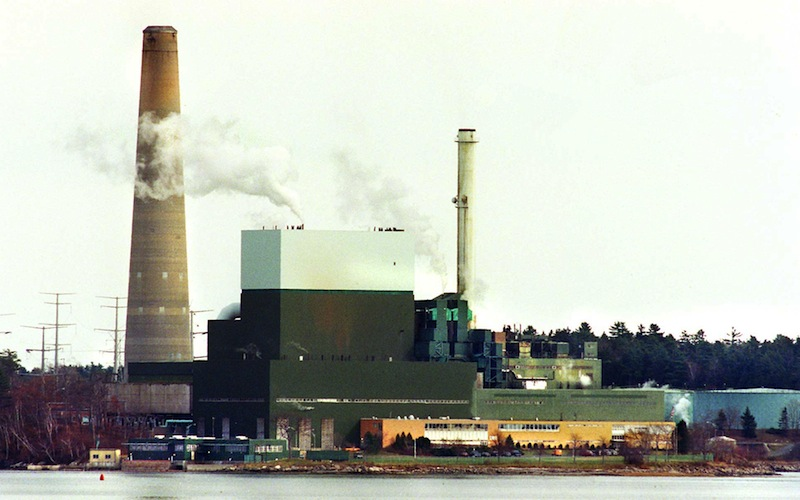 This 1999 file photo shows Wyman Power Station in Yarmouth, Maine. The owner of the Wyman Power Station in Yarmouth has paid a $25,825 fine for exceeding its air emissions standards in the past year, one of three state pollution cases recently resolved. Wyman power station Gordon Chibroski