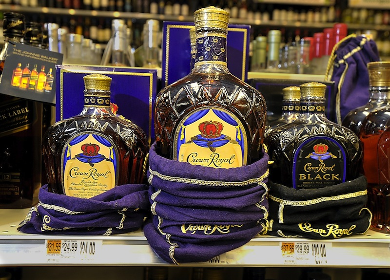 A Crown Royal display at the Bow Street Market in Freeport. Maine's top liquor official said Wednesday, Jan. 16, 2013 that the state will seek a contractor for wholesale liquor operations that will handle administration, distribution and marketing. That contradicts a plan outlined Tuesday by Gov. Paul Le- Page