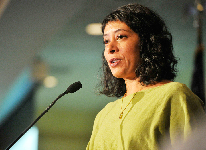 Keynote speaker Rinku Sen, president and executive director of Applied Research Center, addressed the Martin Luther King Day breakfast and ceremonies held Monday at the Holiday Inn by the Bay.