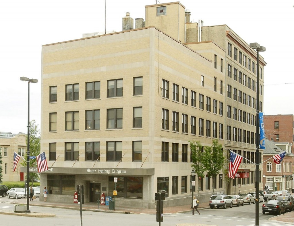 A developer plans to convert the former Portland Press Herald building at 390 Congress St. into a 110-room luxury boutique hotel and restaurant.
