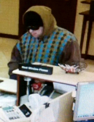 Authorities say Justin Brady demanded cash from a teller at the York County Credit Union in Sanford last Thursday.
