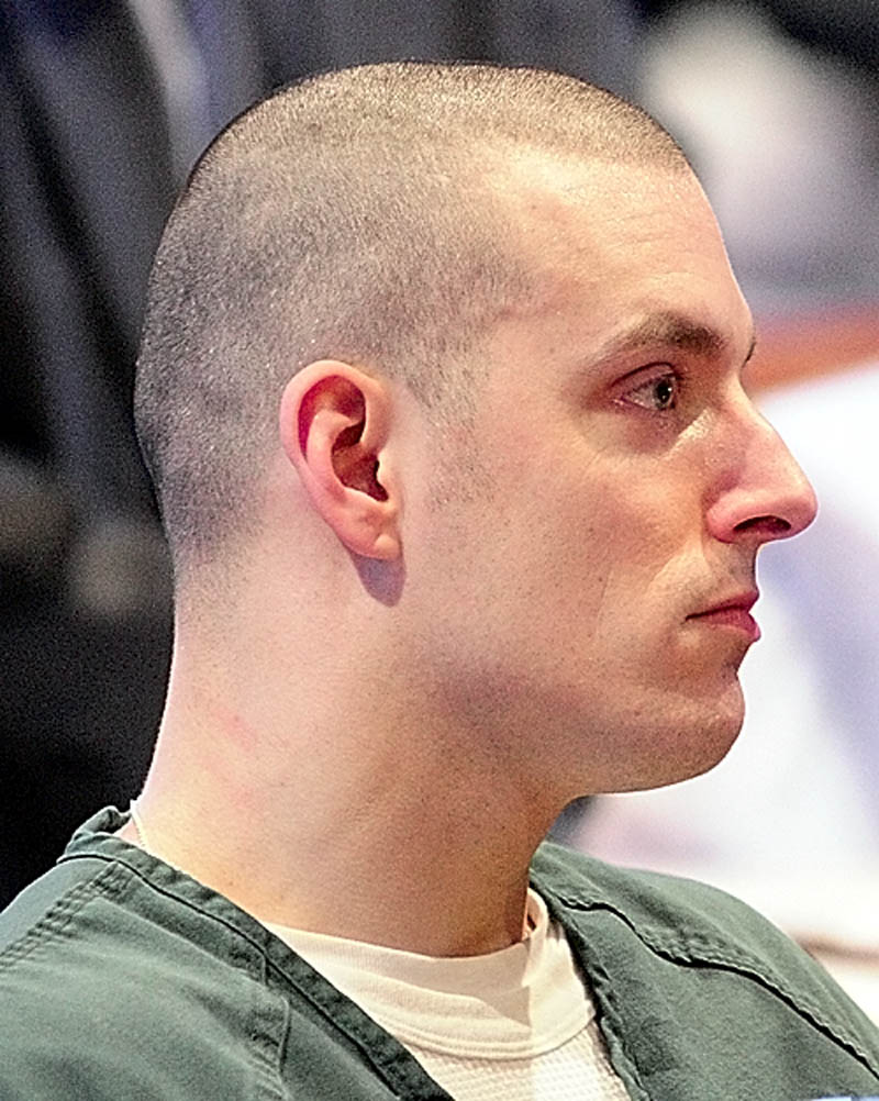 David Silva sits in his sentencing hearing on Friday January 4, 2013 in Kennebec County Superior Courthouse in Augusta.
