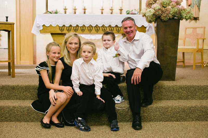 Kyle St. Clair's family (from left to right): his sister Alexis, mother Kate, brother Jack, Kyle, and father Mark.