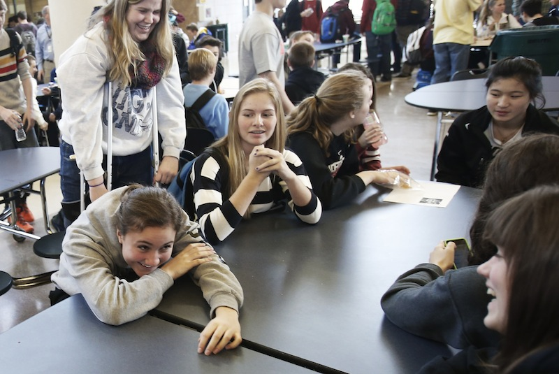 In this Jan. 18, 2013 photo, Chanhassen High School students relax during their 20-minute
