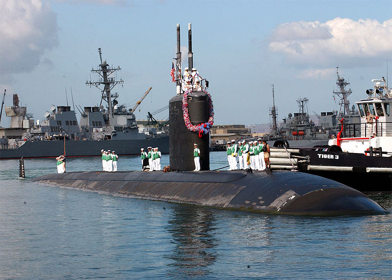 The USS Pasadena in Pearl Harbor, Hawaii. The commanding officer of an attack submarine currently undergoing maintenance at a Maine shipyard has been relieved of duty.