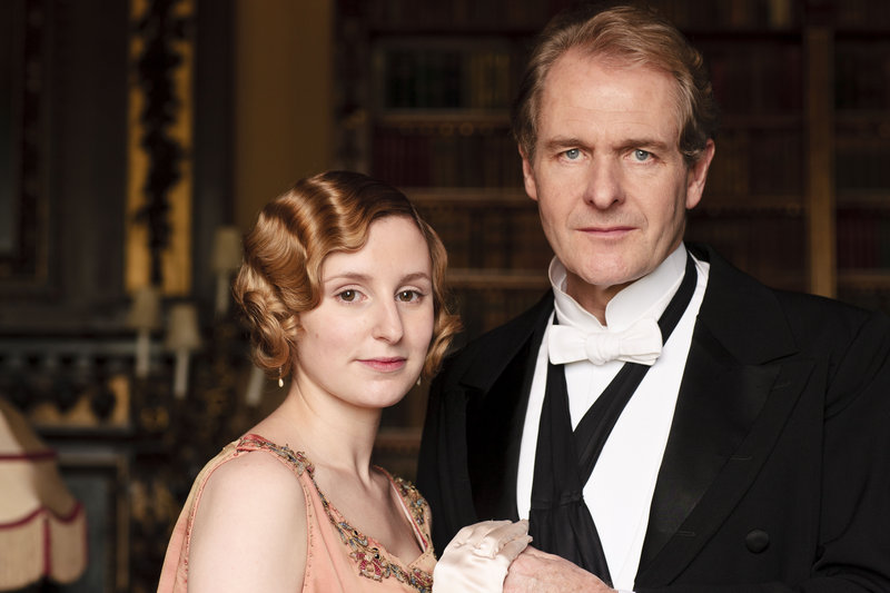 Lady Edith and Sir Anthony Strallan (Laura Carmichael and Robert Bathurst)