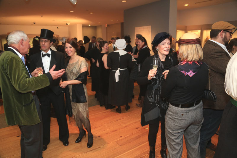"Costumed guests enjoy a ""Downton Abbey""-themed MPBN party in December."