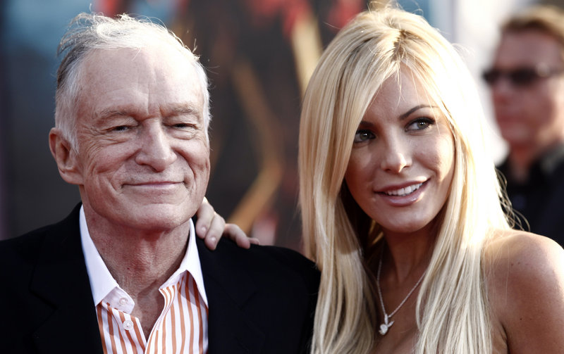 Hugh Hefner and Crystal Harris, shown in 2010, are now man and wife. She broke off their previous engagement in 2011. He's been married twice before.